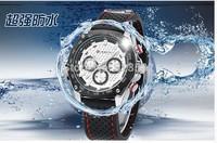 F1 racing business brand CURREN Card Ryan men's military silicone quartz outdoor Sport casual waterproof rubber wristwatch