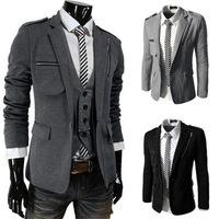 New 2014 Autumn Winter Men Suit Jacket Fashion Zipper Casual movement Pure Color Men Brand Suit Jacket Free Shipping Promotions