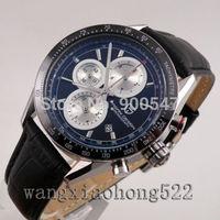 Details about PAGANI Design black dial datewidow Tachymeter men's wrist Watch ceramic bezel041
