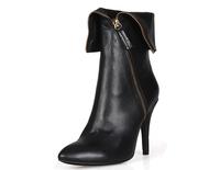 new 2014 genuine leather high heels women boots side zipper women martin boots sexy pointed-toe autumn boots women pumps heels