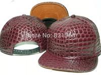 Leather Baseball Caps for man woman Triangle mark Flat snapback cap PU hip hop hat Fashion Sreet Cool Caps mix order top quality