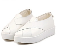 2014 European And American Autumn Fashion Height Increasing Flat Bottom Shoes,Cross Vamp Female Shoes X442