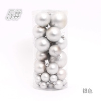 Christmas Tree Dcoration Pendant 3-8cm Silver Christmas Matte Ball Supplies Hanging Festival or Party Free Shipping