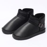 Men autumn winter snow boots Men's belt buckle shoes men's strap plush warm winter boots Cotton shoes
