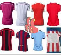 Women Thai Girl Soccer Jersey Team Club Female 2015 14 15 New Thailand Wear Soccer Jersey Camisetas De Futbol Uniform Custom