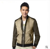 HOT sale 2014 New autumn winter men's High quality brand casual fashion thin outdoor waterproof jackets coat S-2XLsize CYP85