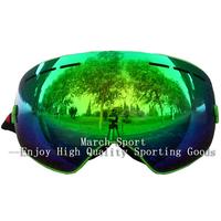 2014 Deluxe Fashion Rimless Ski Snowboard Goggles Eyewear Glasses Green UV Protection Anti Fog Men Women