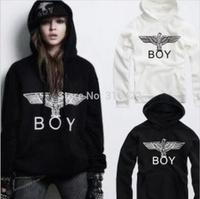 2014 New Fashion BOY LONDON Men and women's Sweatshirts Hooded Fleece Long-sleeved coat free shipping   A636