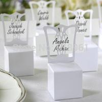 100pcs/lot Wedding White Chair Candy Box Wedding Gift Box Wedding Favors Wholesale