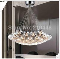 Minimalist Modern Many Balls Plating Glass Ball Chandelier Creative Living Room Bedroom Dining Club LED Chandelier