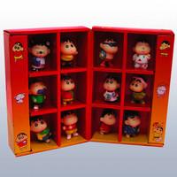 Japan Anime Crayon Shinchan Toys Models Limited Edition Collection Crayon Shin Chan Figures Dolls 4.5cm 12 pcs/Set Free Shipping