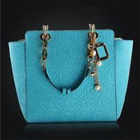 New 2014 Rose Pattern Women Handbag Fashion Women Leather Handbag Popular Shoulder Bag Genuine Leahter Totes Hot Sale Bolsas