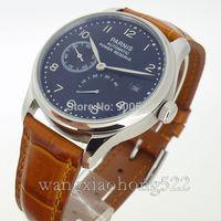 Details about 43mm Parins Power Reserve Chronometer black dial automatic seagull watch P092E