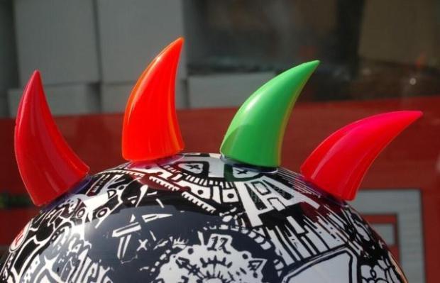 Helmet Devil Horns Helmet New Devil Horns