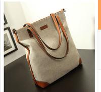 2014 new wave of European and American minimalist big canvas bag handbag fashion handbags