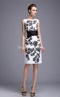 Free Shipping New European station ladies waist retro flower print dress High quality fashion elegant OL dress