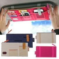 Multifunction Sun visor Storage bag Car hanging bag storage bag Storage Organizer Arrangement Bag of sun visor
