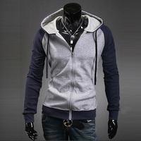 2014 New coats men Autumn and winter fleece single male Men's spell color fleece 6 Colors 4 Size M-XXL Free shipping XO11