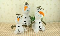 Frozen Snowman 22cm / 30cm/37cmTall OLAF Plush Toy High Quality Frozen Doll Cartoon Children gift