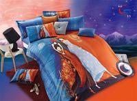 3D 100% cotton reactive print  4 pcs bedding set D189 one duvet cover+one bedsheet +2 pcs pillowcase home textile free shipping