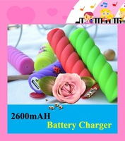 200pcs/lot 2600mAH External Power Bank Backup Battery Charger Coccinella Septempunctata With Micro USB Cable Free Shipping