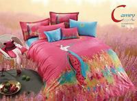3D 100% cotton reactive print  4 pcs bedding set D188 one duvet cover+one bedsheet +2 pcs pillowcase home textile free shipping