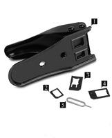 Free Shipping 2 n 1 Micro Sim Cutter for iPhone 5 4s 4 Nano SIM Card SIM Adapter for Samsung Galaxy Regular Sim  Z618