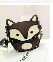 Europe and America 2014 new mini bag small satchel bag diagonal packet little fox