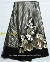L-N0657  Free shipping african french lace net lace/organza lace