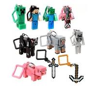 10pcs/lot Minecraft Hanger Creeper Action Figure MC Toys Models Backpack Pendants Keychains 3D Models