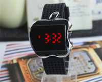Top Fasion Digital Electronic LED Wristwatches mens Watch Apple Shape For Men Women Children Sports Watches