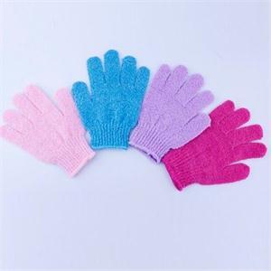 2014 New Arrival Feel good Exfoliating Skid resistance Massage Shower Bath Sponge Gloves(China (Mainland))