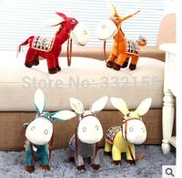 free shipping Cartoon plush toy donkey little donkey fair animal pony doll