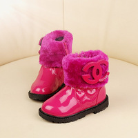 2014 baby girls plus velvet winter snow boots Warmth  Foot length 13 ~ 15cm