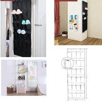 24 Pocket Hanging Over Door Shoe Organiser Storage Bag Tidy Rack Space Saver Toys