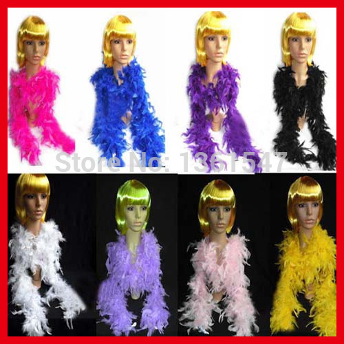 200pcs/lot EMS Free Shipping Cheap Wholesale 180cm 40g Wedding Carnival Christmas Halloween Party Supplies Turkey Feather Boas(China (Mainland))