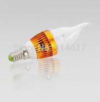 AC220V e14  led candle light led bulb  10pcs/lot Free shipping