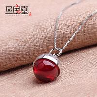 women pendant 925 sterling silver pendant apple charm crystal pendant  necklace