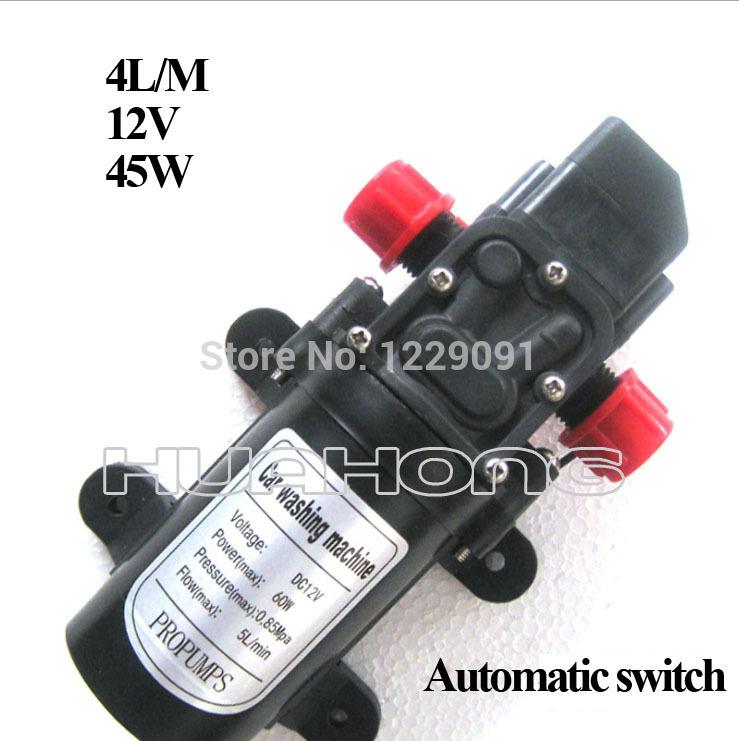 45w interruptor automático Mini DC Diafragma carro de alta pressão da bomba de água 12v de alta pressão 4L / min(China (Mainland))