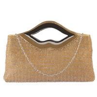 VN brand designer lips Women's clutches elegant women clutch bag party evening bags women handbag shoulder bags totes chain bag