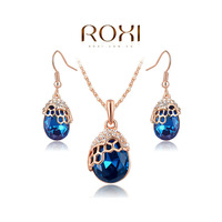 ROXI Brands fashion women cat jewelry sets, Austrian crystal,Nickeless jewelry set,free shipping,wholesale ,best Christmas gifts