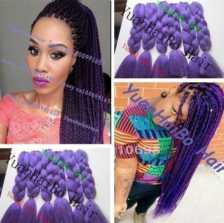 Braiding Hair For Blac Black And Purple Braids