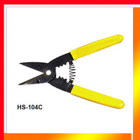 Free shipping HS-1041A 0.9-6mm2 automatic rebound spring wire cutting stripping & crimping cutter & crimping pliers hand tool