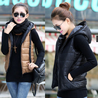2014 New outerwear thickening patterns fashion casual cotton hooded vest women vest jacket Motorcycle Shipping Q173