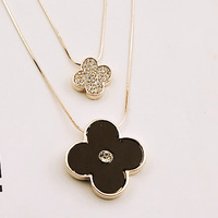 New European Vintage Luxurious Collar Chain Bronze Lace Flower Chain Choker Necklace for Women Sale
