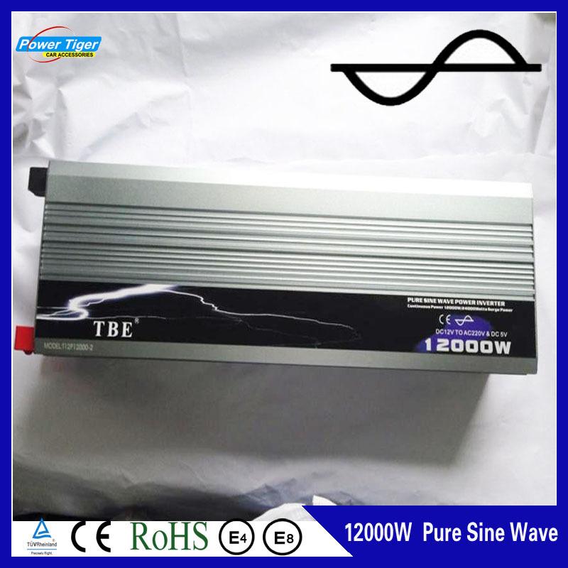 High Quality Car Auto 12000w 12000 Watt Pure Sine WAVE Power Inverter DC 12V to AC 220V Car Converter Adapter Inverter +USB(China (Mainland))
