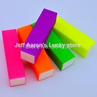 50 PCS Neon colors Nail Art Buffer Block Sanding File  Nail Care Tool beauty salon equipment wholesale