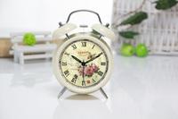 4 inch big European retro creative loud alarm sound lazy student pastoral metal fashion mute alarm clock
