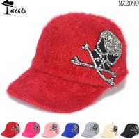cap New Design Rhinestone Skull Heads Decorationp Personlized hats (5pcs/Lot ) premium rabbit hair fashion baseball caps MZ2099
