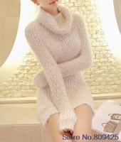 Retail women sweater dress sexy perspective mesh splicing sweater fashion pullover long sweater women winter dress